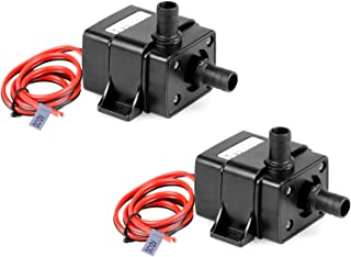 MOUNTAIN_ARK 2 Pack DC 12V Mini Submersible Water Pump 240L/H 63 Gallon for Aquarium Garden Pond Fall Hydroponic Fountains