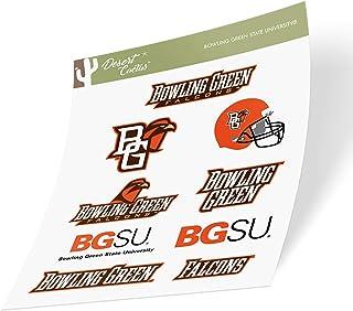 Bowling Green State University BGSU Falcons NCAA Sticker Vinyl Decal Laptop Water Bottle Car Scrapbook (Type 2 Sheet)