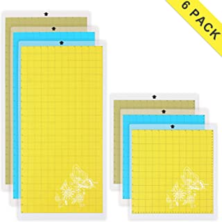 Cutting Mat Variety 6 Packs Adhesive Replacement - Strong, Standard, Light Grip Suit for Cricut, for Silhouette, 12in x 12in x 3 Packs, 12in x 24in x 3 Packs