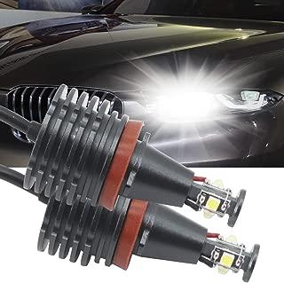 H8 LED Angel Eyes Halo LED Ring Bulb CREE 80W Xenon White Fit for BMW E60 E61 E90 E92 E70 E71 E82 E89 1 3 5 Series X5 X6 Z4(Pack of 2)