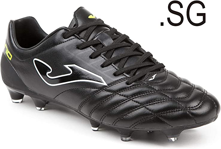 Joma PN10S_801 Chaussures de Football Sound Spbague Number 10 Pro Noir Calcio Svoiturepa