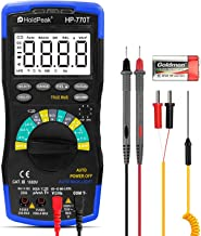 HOLDPEAK HP-770T Multimeter 6000 Counts TRMS CATIII 1000V,Auto Ranging,Data Hold,NCV,AC/DC Amp Ohm Volt Meter hFE Diode LE...