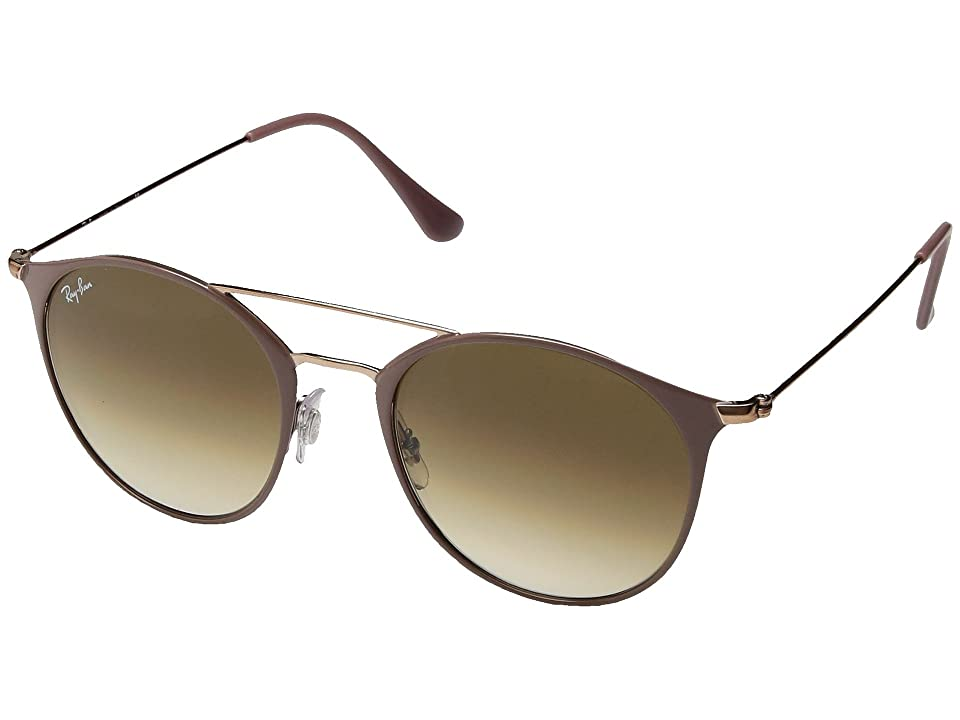 Ray-Ban 0RB3546 52mm (Copper Top On Beige/Clear Gradient Brown) Fashion Sunglasses