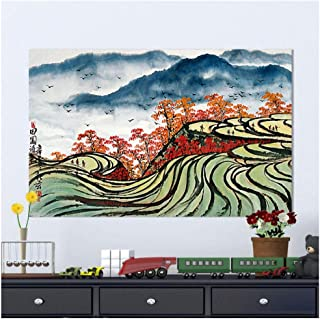 Canvas Prints Poster,Chinese Painting Wall Art Pictures for Living Room Planting Home Decor 60X80Cm Unframed