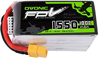 Ovonic 1550mAh 18.5V 5S 100C Lipo Battery for FPV Racing