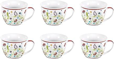 Preisvergleich für flirt by R&B Jumbo Obere Tasse, Kaffeetasse 'Shanti Doppio', 360 ml, Ø 11 x 9 cm (6er Pack)