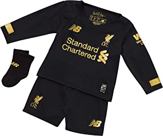 Liverpool FC Home Kit 2019/2020 Black Baby Boys Soccer Goalkeeper Kit LFC Official