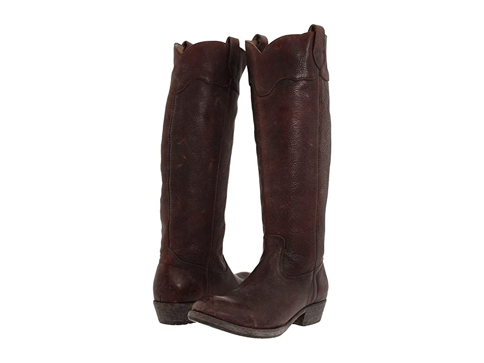 Frye Carson Lug Riding (Dark Brown Stone Antiqued) Women