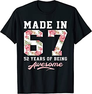 52 Years Old Women Born In 1967 52nd Birthday Gift T-Shirt