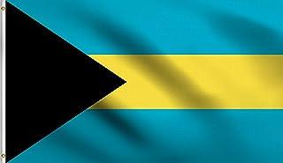 DMSE Bahamas Bahamian Caribbean National Flag 3X5 Ft Foot 100% Polyester 100D Flag UV Resistant (3' X 5' Ft Foot)