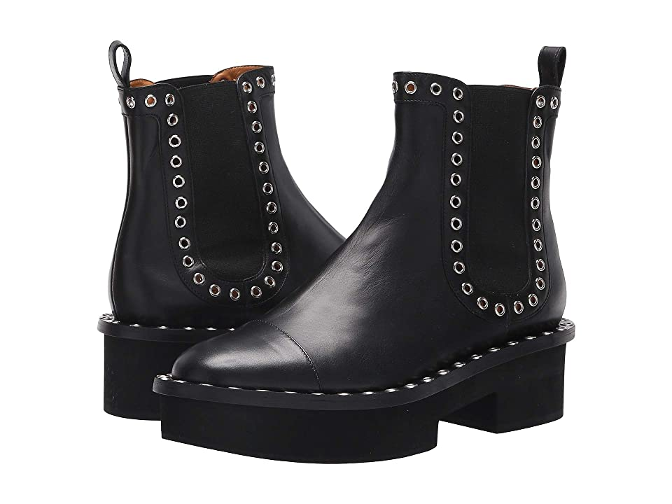 Clergerie Betty (Black Leather Calf) Women