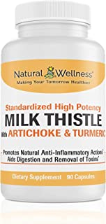 Natural Wellness Milk Thistle with Artichoke & Turmeric - 30 Day Supply