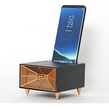 Plusline 新しい音を聞く。無電源スピーカー LISTEN(リッスン)iPhone,Android対応 電源不要スピーカー black pl-listen-bl