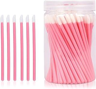 100Pcs Disposable Lip Brushes , Make Up Brush Lip Gloss Applicators , Lipstick Lip Gloss Wands , Applicator Perfect Makeup Tool Kits(pink)