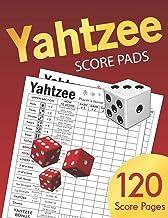 Yahtzee Score Pads: Large size 8.5 x 11 inches 120 Pages | Dice Board Game | YAHTZEE SCORE SHEETS | Yatzee Score Cards | Yahtzee score book Vol.4
