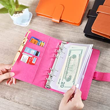 A6 PU Leather Notebook Binder, Refillable A6 Inner Filler Papers Journal Binder Cover with 6 Ring, Personal Diary Schedule Or