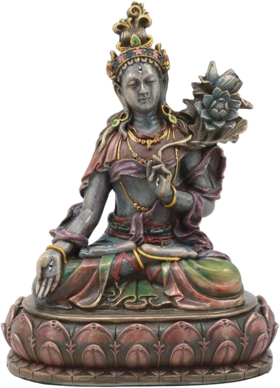 Ebros Bodhisattva White Tara Statue Goddess of Compassion and He