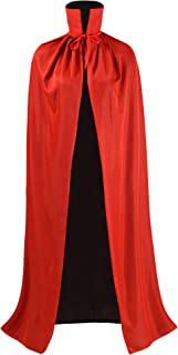 OurLore Black and Red Reversible Halloween Christmas Cloak Masquerade Party Cape Costume (47 inch, Stand Collar)