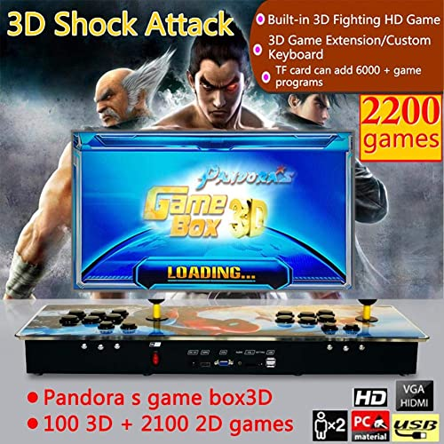 hasta 60% de descuento Funihut Pandora Box 2200 en 1 1 1 Consola de Videojuegos Pandora Box 3D 100 3D + 2100 Spiderman Style Home Retro TV Fighter  solo para ti