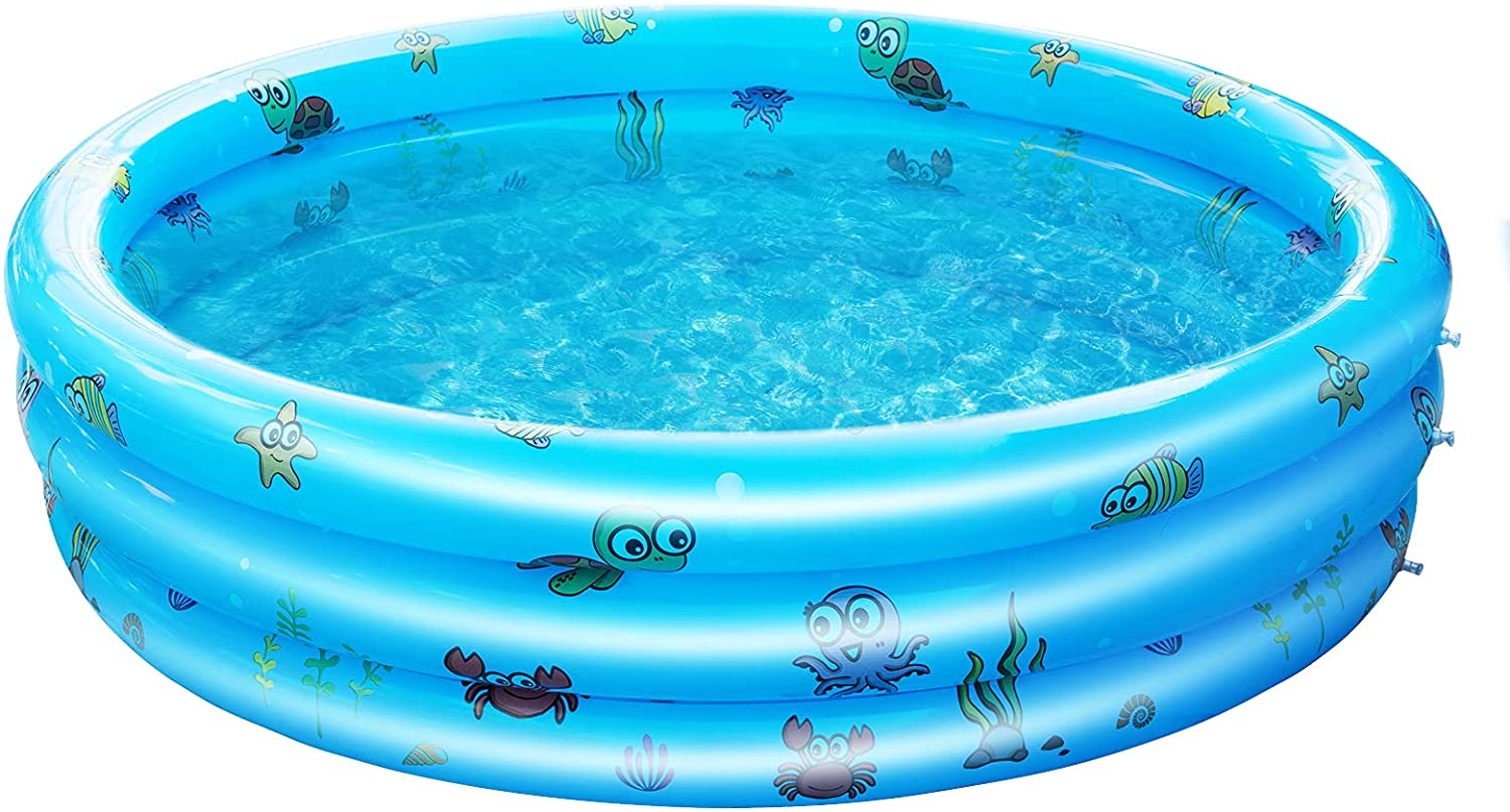 Challenge the lowest price of Japan AsterOutdoor Kids Inflatable Swimming Max 45% OFF Pool B 3 Round Rings Pools