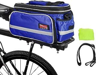 Arltb Bike Rear Bag (3 Colors) 15-25L Waterproof Bicycle Trunk Bag with Rain Cover Shoulder Strap Bike Pannier Tail Back Seat Bag Package Handbag Bike Accessories for Road Bikes Mountain