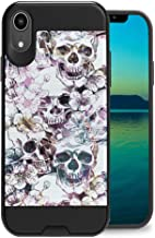 Zicomaxcap Case Compatible with iPhone XR [Cute Design Cool Hybrid Heavy Duty Slick Armor Defender Hard Durable Black Phone Case Cover] for iPhone XR - (Messy Skull)