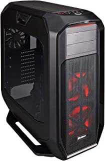 Corsair Graphite 780T Full-Tower ATX - Caja de PC,  ventana lateral con dos AF140 rojo LED ventilador, Negro