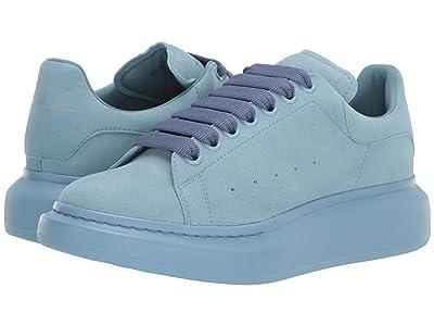 Alexander McQueen Oversized Tonal Tennis Sneaker (Ballroom Blue) Men