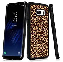 Case for Samsung Galaxy S7 edge case Leopard Print Slim Soft and Hard Tire Shockproof Protective Phone Cover Case Slim Hybrid Shockproof Protective Case Anti-Scratch Cushion Bumper with Reinforced Cor