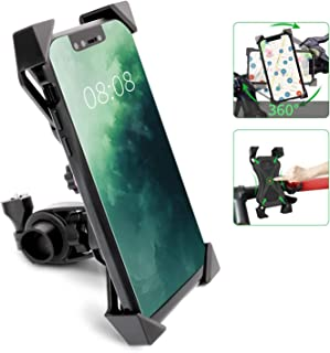 Bike Phone Mount 360° Rotation Anti Shake Phone Mount Holder, Universal Fit Bicycle Phone Stand Cradle Clamp Compatible with 3.5