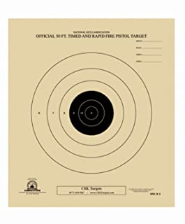 50 Foot Timed and Rapid Official NRA Target B-3