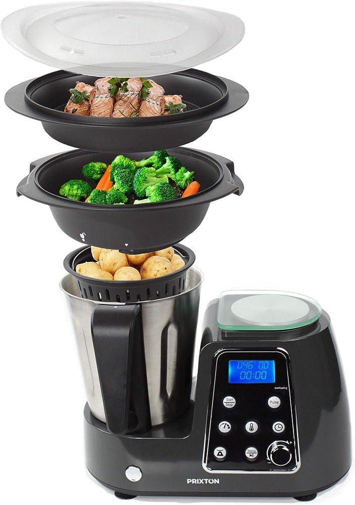 Prixton ,robot da cucina multifunzione programmabile: frulla, frusta, trita, cuoce al vapore, frigge KG200