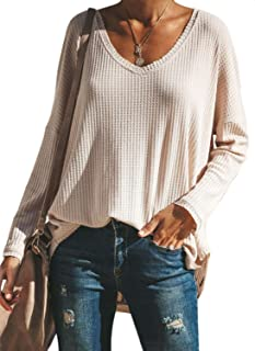 Dearlove Women's Casual Long Sleeve Floral Cowl Neck Striped Blouse Tops S-XXL