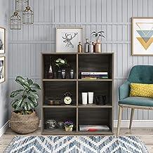 FurnitureR Estantería industrial Estantería para oficina en el hogar con 4 estantes de niveles y 6 espacios de almacenamie...
