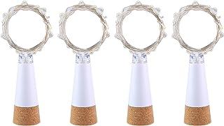 Wine Bottle Light, Umiwe Rechargeable USB Cork Light Fairy Led String Light Lamp for Bottle DIY Party Wedding Home Christm...