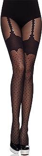 Medias Panty con Estampado Lencería Sexy Mujer MS 262 40 DEN