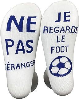 Personnalit/é Casual dhiver je regarde le football 26cm Fogun Chaussettes Unisexes en Coton avec Mots Amusants: Ne d/érange pas respirant et doux