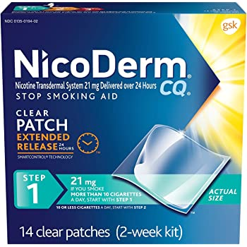 NicoDerm CQ Step 1 Nicotine Patches to Quit Smoking - Stop Smoking Aid, 14 Count