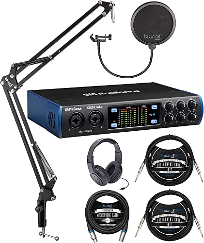 lowest PreSonus Studio 68c USB-C Audio Interface Bundle with Studio One Artist Software, SR350 Headphones, Blucoil Boom outlet online sale Arm Plus Pop Filter, 10' XLR Cable, 2x 10' Instrument lowest Cables, and 5x Cable Ties outlet sale