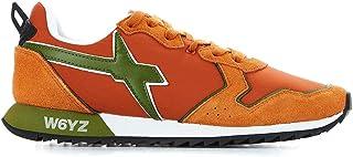 W6YZ Men's 1G17ORANGE Orange Fabric Sneakers
