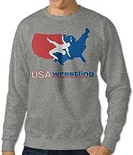 Mens' USA Wrestling Crew-Neck Hoodies Sweatshirts