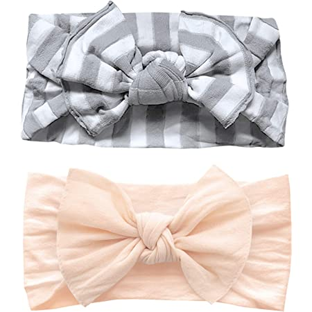 Peach Baby Bow Organic Cotton Baby Headband