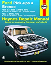 Ford Pick-ups F-100, F-150, F-250 & Bronco (80-96) & F-250HD & F-350 (97) Haynes Repair Manual (Does not include informati...
