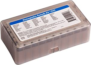 50 200c Homeopathic Remedy Kit. Contains 50 of the most commonly used and recommended 200c homeopathic remedies.