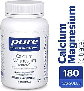 Pure Encapsulations - Calcium Magnesium (Citrate) - Highly-Absorbable, Hypoallergenic Calcium Supplement with Magnesium - 180 Capsules