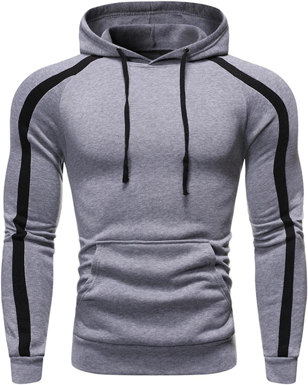 Hoodies for Men Fashion Mens Athletic Hoodies Sport Sweatshirt Long Sleeved Drawstring Sports Pullover Tops