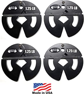 Micro Gainz 1.25LB Dumbbell Fractional Weight Plates 2 or 4 Pack (Choose a Set)- Designed for Dumbbell Training and Micro Loading, Made in USA