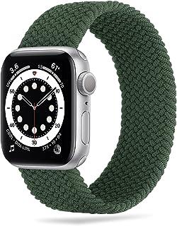 Tasikar Correas Solo Loop Trenzada Compatible con Correa Apple Watch 44mm 42mm 40mm 38mm, Pulsera de Repuesto Nylon de Elá...