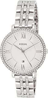 Fossil Casual Analog White Dial Silver Stainless Steel Watch for Women - ES3545