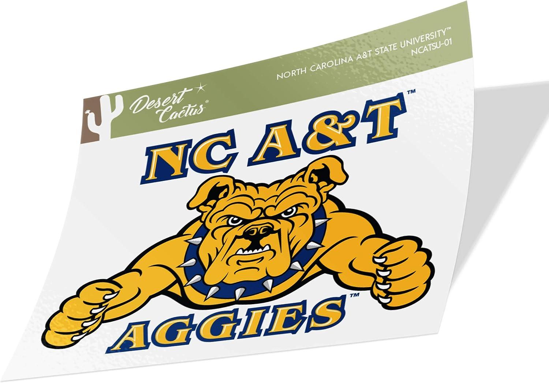 North Carolina A & T State University HBCU Aggies Vinyl Decal Laptop Water Bottle Car Scrapbook (Sticker - 01)